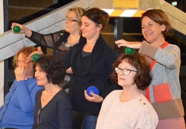 Le Choeur Azurus pendant Atelier de Méthode MPVB - Mouvement Posture Voix Bien-être